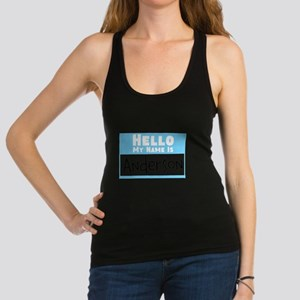 Personalized Name Tag Racerback Tank Top