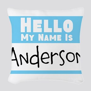 Personalized Name Tag Woven Throw Pillow