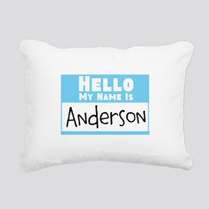 Personalized Name Tag Rectangular Canvas Pillow