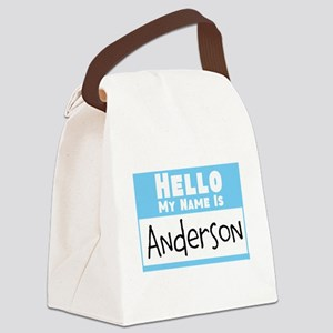 Personalized Name Tag Canvas Lunch Bag