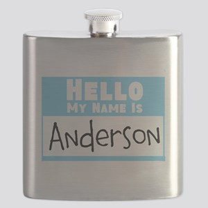 Personalized Name Tag Flask