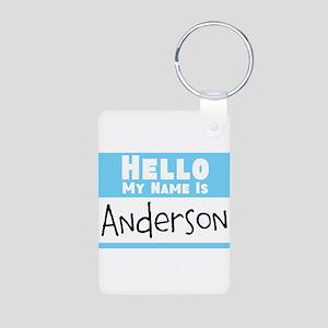 Personalized Name Tag Aluminum Photo Keychain