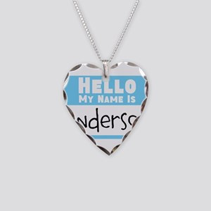 Personalized Name Tag Necklace Heart Charm