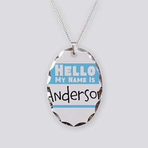 Personalized Name Tag Necklace Oval Charm
