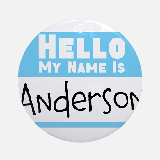 Personalized Name Tag Round Ornament