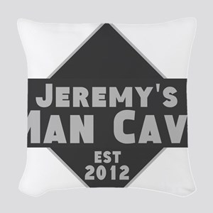 Personalized Man Cave Woven Throw Pillow