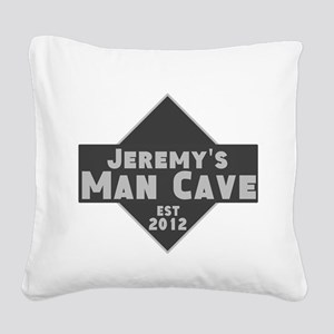 Personalized Man Cave Square Canvas Pillow