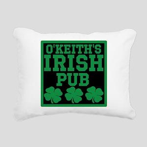 Personalized Irish Pub Rectangular Canvas Pillow