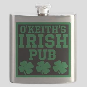 Personalized Irish Pub Flask