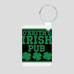 Personalized Irish Pub Aluminum Photo Keychain