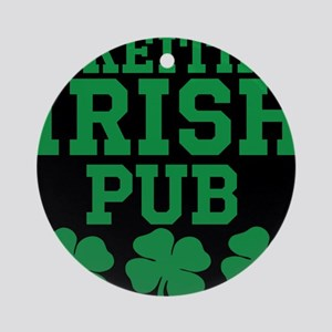 Personalized Irish Pub Round Ornament
