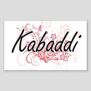 Kabaddi Artistic Design with Flowers Sticker