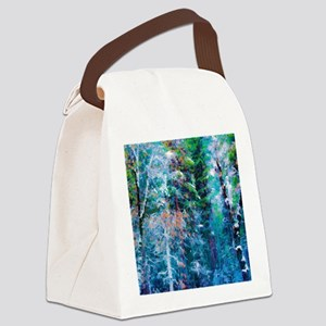 Snowy Forest Canvas Lunch Bag