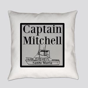 Personalized captain fishing boat Everyday Pillow