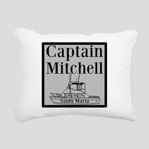 Personalized captain fishing boat Rectangular Canv