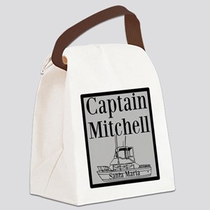 Personalized captain fishing boat Canvas Lunch Bag