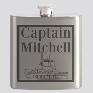 Personalized captain fishing boat Flask