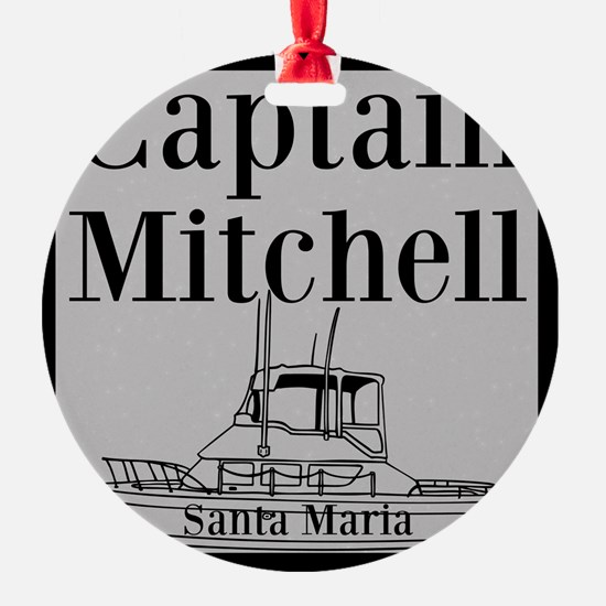 Personalized captain fishing boat Ornament