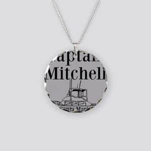 Personalized captain fishing boat Necklace Circle