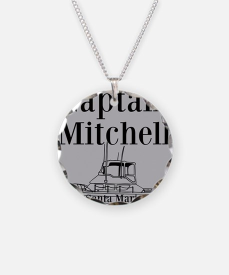 Personalized captain fishing boat Necklace