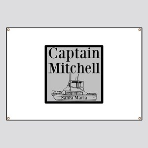 Personalized captain fishing boat Banner