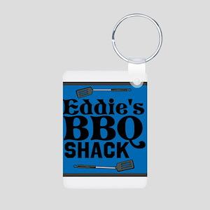 Personalized BBQ Aluminum Photo Keychain