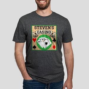 Personalized Casino Mens Tri-blend T-Shirt