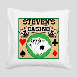 Personalized Casino Square Canvas Pillow