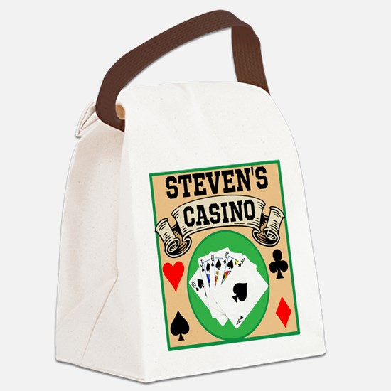 Personalized Casino Canvas Lunch Bag
