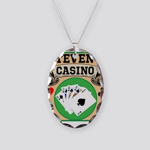 Personalized Casino Necklace Oval Charm