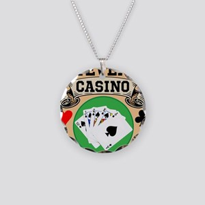Personalized Casino Necklace Circle Charm