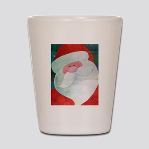 Santa Face Shot Glass