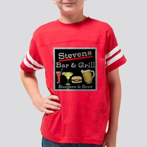 Personalized Bar and Grill Youth Football Shirt