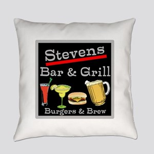 Personalized Bar and Grill Everyday Pillow