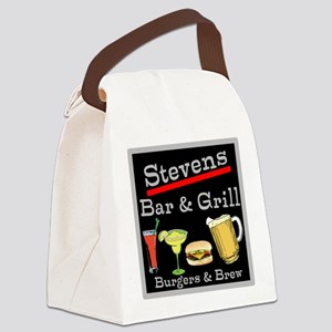 Personalized Bar and Grill Canvas Lunch Bag