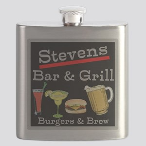 Personalized Bar and Grill Flask