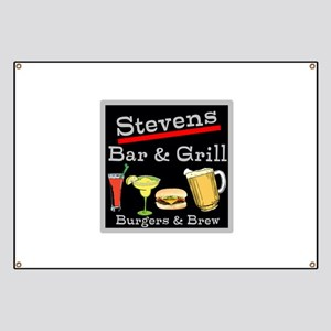 Personalized Bar and Grill Banner