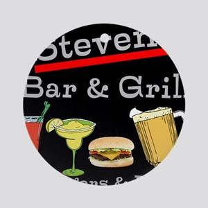 Personalized Bar and Grill Round Ornament
