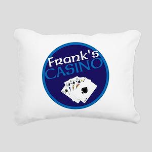 Personalized Casino Rectangular Canvas Pillow