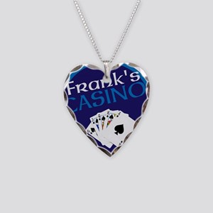 Personalized Casino Necklace Heart Charm