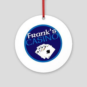 Personalized Casino Round Ornament