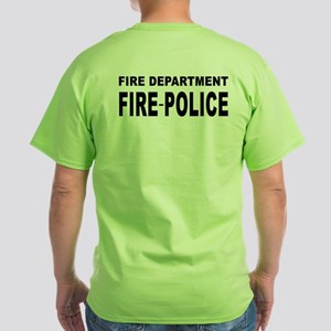 Fire Department Fire-Police Green T-Shirt