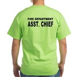 Assistant fire chief Green T-Shirt