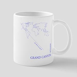 Grand Canyone Geocode (blue) Mugs