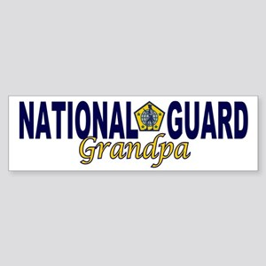 National Guard Grandpa Bumper Sticker