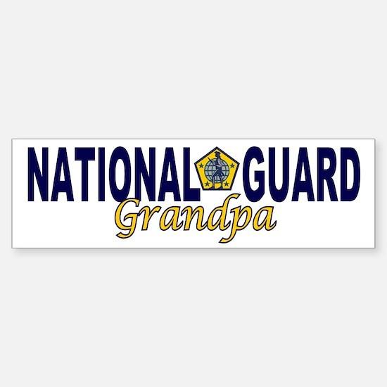 National Guard Grandpa Bumper Bumper Bumper Sticker
