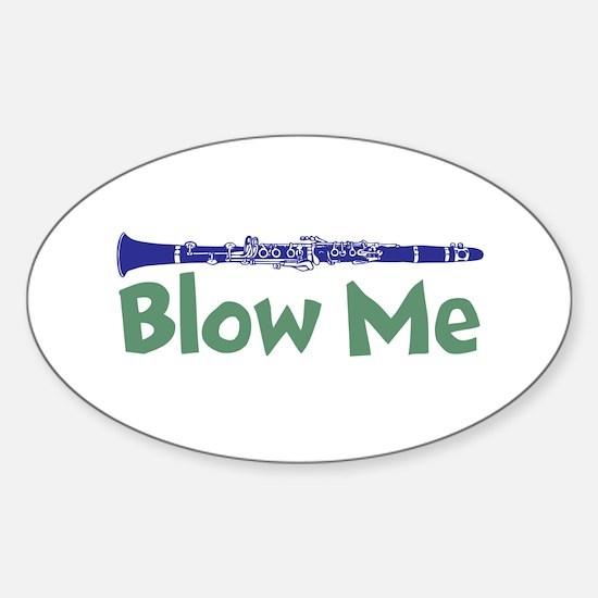 Blow me clarinet Sticker (Oval)