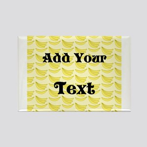 Banana Pattern with Custom Text Magnets