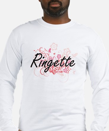 Ringette Artistic Design with Long Sleeve T-Shirt