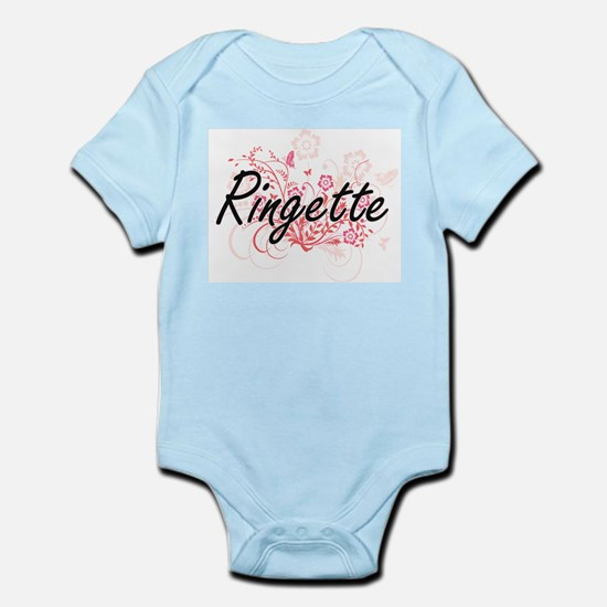 Ringette Artistic Design with Flowers Body Suit